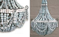 Chandelier created using ceramic beads from Hellooow