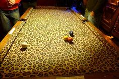 Animal print Pool table <3