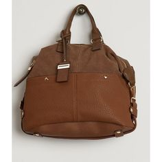 Moda Luxe London Purse ($60) ❤ liked on Polyvore featuring bags, handbags, brown, brown purse, real leather handbags, leather purses, brown leather purse and brown handbags