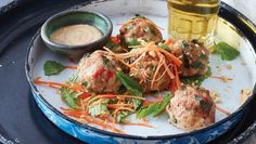 Thai Balls from The Meatball Shop in NYC ... making these for supper tomorrow night.  Should be great ...
