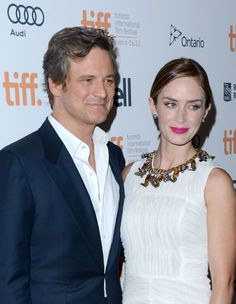 Colin Firth and Emily Blunt at the TIFF premiere of Arthur Newman