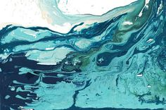 A stunning abstract art print of a wave in a variety of turquoise and blues – it is a print of my Sandbanks Wave I painting. It is one of my favourite prints and also my favourite painting to date. The original was created using acrylics on canvas and was great fun to paint! This surf