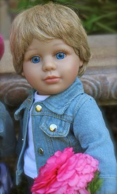 "Our Handsome 18"" boy Doll, Cameron, by Harmony Club Dolls. Available at www.harmonyclubdolls.com"