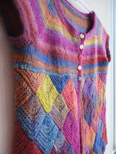 Girls hand knitted vest in Noro yarn by SweetHandmadeDreams, $69.00