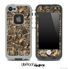 LifeProof Case iPhone 5C | ... Real Woods Camouflage V2 Skin for the iPhone 5 or 4/4s LifeProof Case
