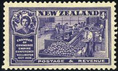 King George VI Postage Stamps: New Zealand 1936 (1 Oct) Congress of British Empire Chambers of Commerce Wellington SG593/597