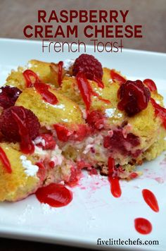 Overnight Raspberry Cream Cheese French Toast Casserole is a breakfast to impress your guests. This recipe is easy and quick. It uses vanilla and fresh berries but frozen can be substituted.