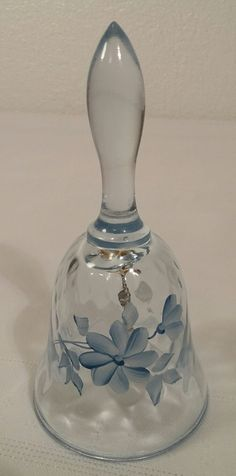 Signed By Artist 2019 Latest Design Fenton Glass Small Hand Painted Bells Excellent Condition Pretty And Colorful