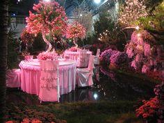 Pretty in Pink wedding reception. Pink Love, Pretty In Pink, Pink Flower Arrangements, Dream Wedding, Wedding Day, Wedding Tables, Wedding Receptions, Destination Wedding, Everything Pink