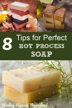 are the BEST tips and tricks for making sure your handmade hot process soaps are perfect! Find out all the things to watch out for so you can make your own natural handmade soap using the hot process soap making method. Making Soap Without Lye, Soap Making, Homemade Soap Recipes, Homemade Playdough, Hot, Goat Milk Soap, Cold Process Soap, Home Made Soap, Handmade Soaps