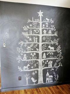 Onwijs leuk alternatief voor de standaard kerstboom, scheelt meteen wat ruimte!