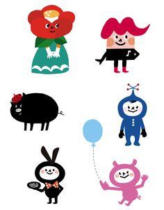 ギャラリー|イラストレーター日比野尚子のウェブサイト Japanese Illustration, Simple Illustration, Graphic Illustration, Illustrations, Simple Character, Character Design, Character Drawing, Character Illustration, Mood Colors