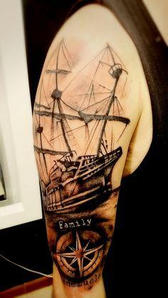 Mi segundo tatuaje #ship #tattoo que buena pela de aguja
