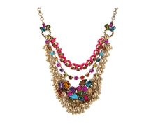 Betsey Johnson Multi Chain Frontal Necklace Multi - Zappos.com Free Shipping BOTH Ways