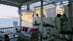 #Bloom seaside cocktail bar & food  vew to the golf of Agia Pelagia Crete Grece