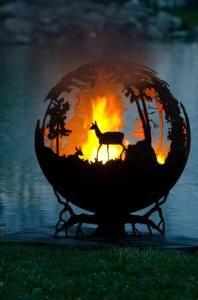 Deer silhoette fire pit