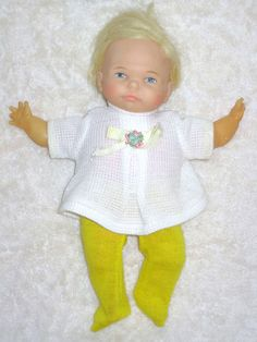 1967 Ideal Newborn Thumbelina Baby Doll 2pc Outfit Pull String Wiggles and Works | eBay