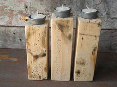Teelichthalter Kombination aus Treibholz by Zen-Art