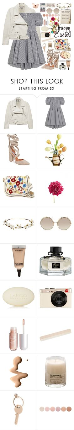 """2556. Happy Easter ♥ ♥ ♥"" by chocolatepumma ❤ liked on Polyvore featuring Retrò, Acne Studios, Caroline Constas, Steve Madden, Pier 1 Imports, Cult Gaia, Marc Jacobs, MAC Cosmetics, Gucci and LAFCO"