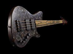 Alpher Black Burl Elite 4 String Bass