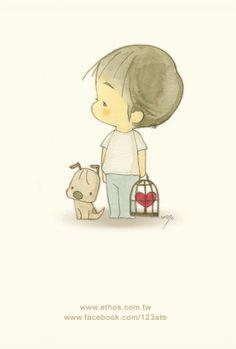Chico y su perrito