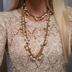 Cute Gold Chain Pearl Necklace | Gabrielle Pearl Necklace | Stella & Dot