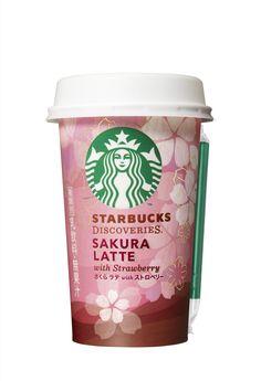 Starbucks Discoveries - SAKURA LATTE Copo Starbucks, Starbucks Cup Art, Starbucks Coffee, Fruit Drinks, Yummy Drinks, Coffee Cafe, Hot Coffee, Starbucks Specials, Candy Room