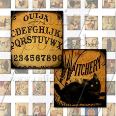 Vintage Halloween  Digital Collage Sheet Instant by calicocollage, $4.15