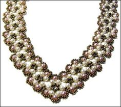bead patterns free | New pattern uploaded: the Scalloped Pearl Necklace