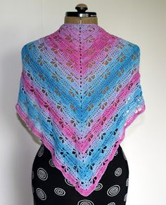 de Haakbaak: Pinspiratie - Butterfly Stitch Prayer Shawl