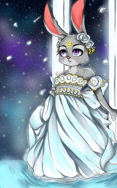 Usagi Tsukino's name is a play on rabbit on the moon.Judy conveniently a rabbit. Judy Tsuki-no-Hime Zootopia Nick And Judy, Zootopia Art, Judy Hopps, Drawing Challenge, Disney Movies, Sailor Moon, Bunny, Deviantart, Drawings