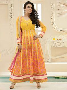 #Designer Anarkali #Yellow #Indian Wear #Desi Fashion #Natasha Couture #Indian Ethnic Wear # Salwar Kameez #Indian Suit
