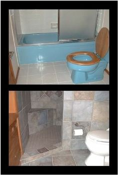 A door-less walk in shower that can be done in small spaces....