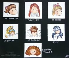 copic - colors for hair