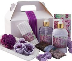 Classic Lavender Pamper Hamper, the forever popular lavender scent and don't forget chocolates; a small way to say thank you this Mother's Day.