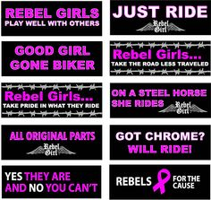 Garage Party Exclusively For Women Harley Davidson Women - Motorcycle helmet decals for women
