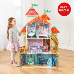KidKraft Disney® Princess Ariel Land to Sea Castle Dollhouse Castle Dollhouse, Wooden Dollhouse, Wooden Dolls, Dollhouse Miniatures, Ariel Disney, Matilda, Kidkraft Dollhouse Furniture, Monster High House, Kids Doll House