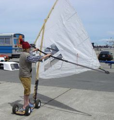 Picture of Steampunk Lugsail Land Windsurfer