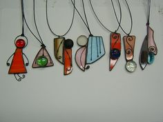 Crank Tiffany Style Stained Glass  Pendant