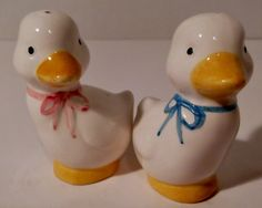Vintage Salt and Pepper Shakers Baby Ducks by SusieSellsVintage, $6.00