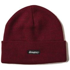 ROLLINS BEANIE ❤ liked on Polyvore featuring accessories, hats, skull hat, skull beanie hats, cuffed beanie, embroidered beanie hats and beanie hat