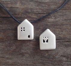 house necklace diy polymer clay fimo ideas