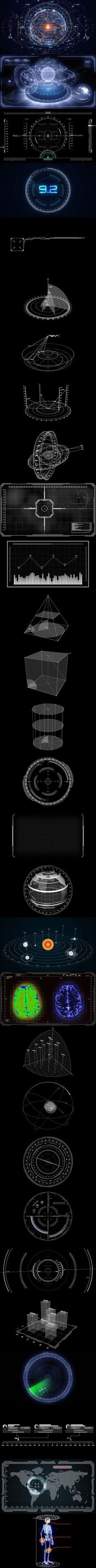 科技元素设计套装3 UI 科幻 界面 元...