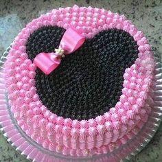 Image result for torta de merengue y crema chantilly de minnie mouse