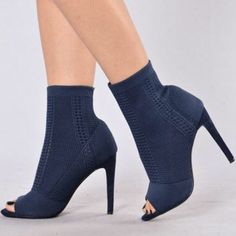 2a2e1220ced Shop Women s Fashion Nova Blue size Heeled Boots at a discounted price at  Poshmark.