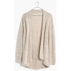 MADEWELL Seastar Slub Cardigan Sweater ($98) ❤ liked on Polyvore featuring tops, cardigans, sand dune, draped open front cardigan, madewell, pink cardigan, drape cardigan and drapey top