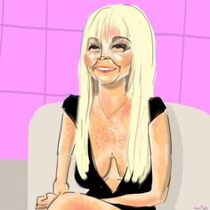 Lindsay Lohan | 31 Spectacularly Quirky Animated Celeb Caricatures