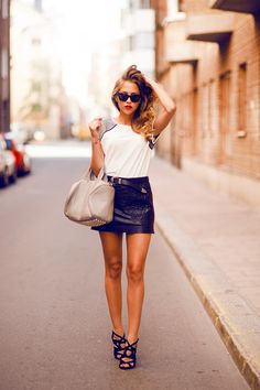 35 Ideas Casual Summer Outfits For Teenage Girl - Teenage Girl Outfits, Outfits For Teens, Cute Outfits, 30 Outfits, Grunge Outfits, Girl Fashion, Fashion Outfits, Womens Fashion, Fashion Ideas