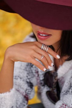 <Arrow Thing> feat. #wanderlustandco Arrow Crystal Silver Ring via @vivaluxury