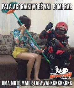 Fala que vai comprar uma moto maior, fala! www.motooffroad.com.br #moto #comprarmoto #amomoto #mx #trilha #esposa #elaquemanda Moto Off Road, Frases Biker, Ducati, Yamaha, Motocross Love, Dirtbikes, Honda Cb, Everton, Motogp